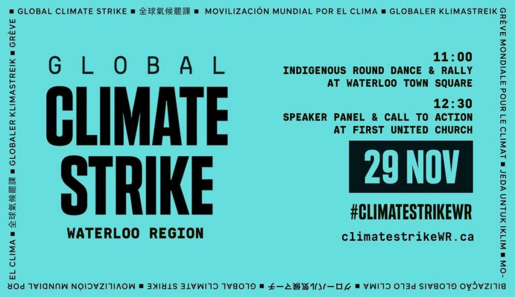 This image has an empty alt attribute; its file name is UpdatedClimateStrikePoster_Nov28th-1024x591.jpg